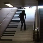 Volkswagen piano stairs