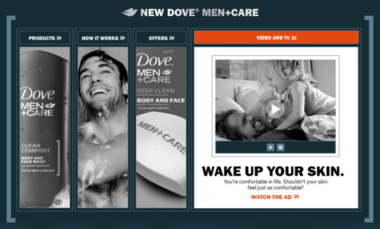 Dove Men Care microsite