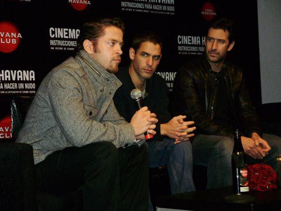 De izquierda a derecha: Arturo Orenday, Fernando Eimbcke, Chema Yazpik