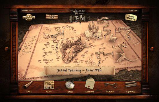 parque harry potter website