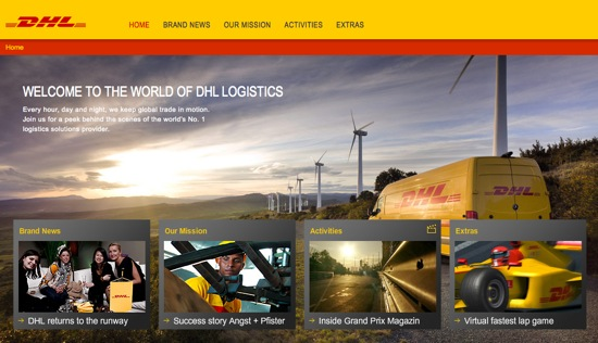 BRAND DHL PAGE