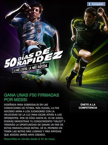 Promo Facebook F50 adiZero