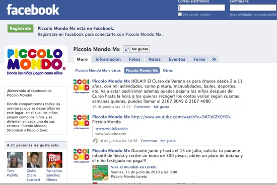 FacebookPiccoloMondo
