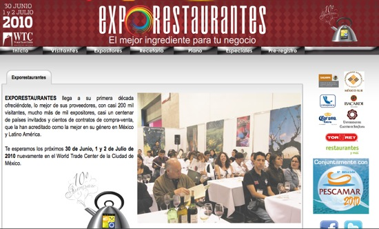 page expo restaurantes