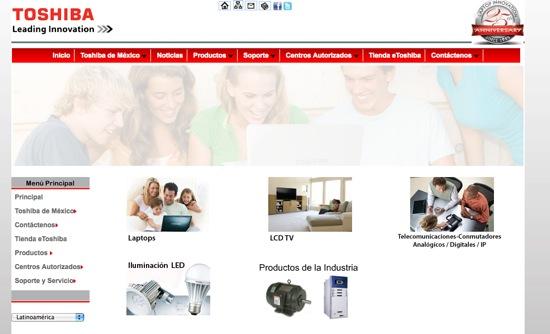 page Toshiba