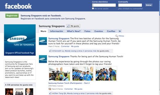 page fb samsung singapur 550