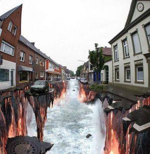 Arte urbano en 3d