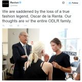 Oscar de la Renta muere a los 82 años - Revlon