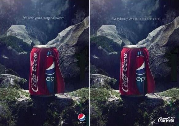 Ingenioso Ad de Pepsi se burla de Coca-Cola, Coca-Cola responde