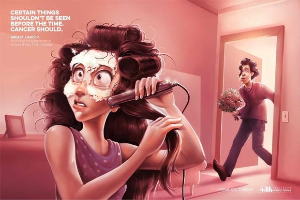 10 campañas contra el cáncer de mama de alto impacto visual