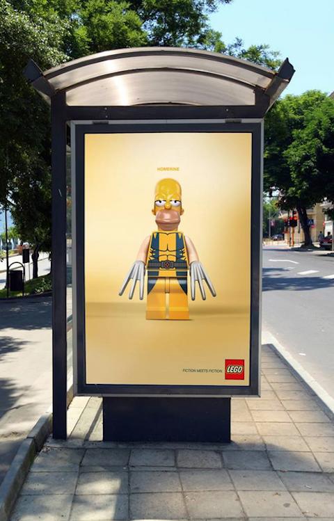 Bloques de Lego invaden los mupis de las calles 5
