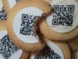 Una galleta con QR.