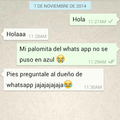 #WhatsApp #PalomitasAzules