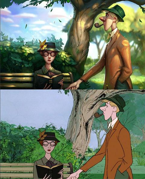 recrea algunos clásicos de Disney 1