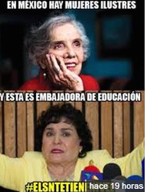 Los memes de Doña Carmen Salinas, la nueva embajadora de la educación