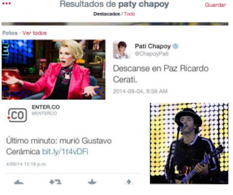 "Memes sobre Pati Chapoy al lamentar la muerte de ""Ricardo Cerati"""