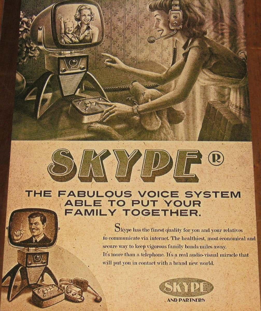 Skype vintage add