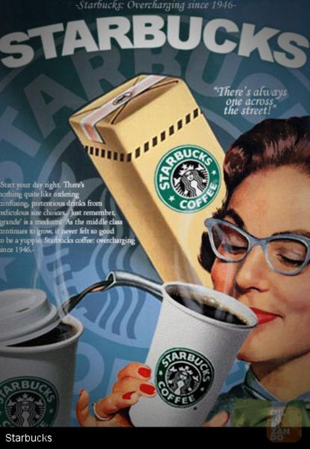 Starbucks vintage add