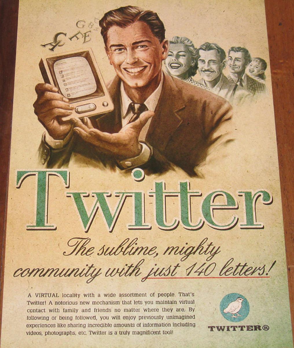 Twitter vintage add