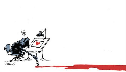 10 fuertes ilustraciones que critican el atentado contra Charlie Hebdo Officiel 10
