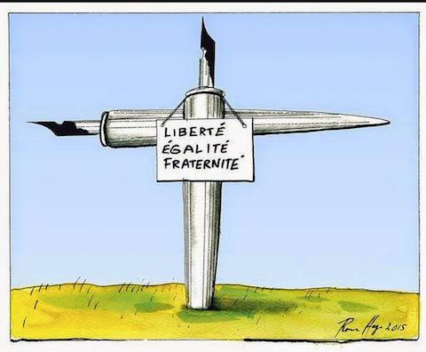 10 fuertes ilustraciones que critican el atentado contra Charlie Hebdo Officiel 3