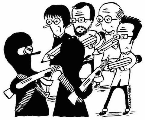 10 fuertes ilustraciones que critican el atentado contra Charlie Hebdo Officiel 4