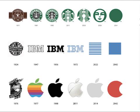 9 famosos logos en su versión pasada, presente y futura 1