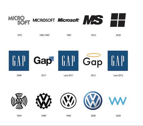 9 famosos logos en su versión pasada, presente y futura 3