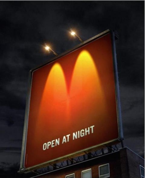 3 creativos y minimalistas billboards de McDonald's 2