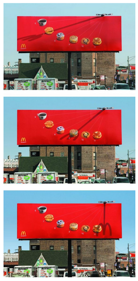 3 creativos y minimalistas billboards de McDonald's 3
