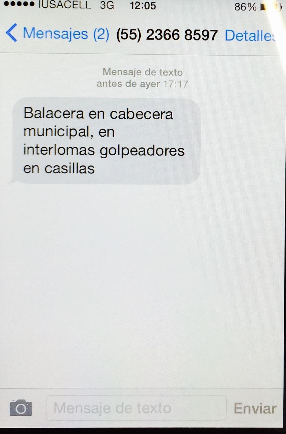 Mensaje SMS 1