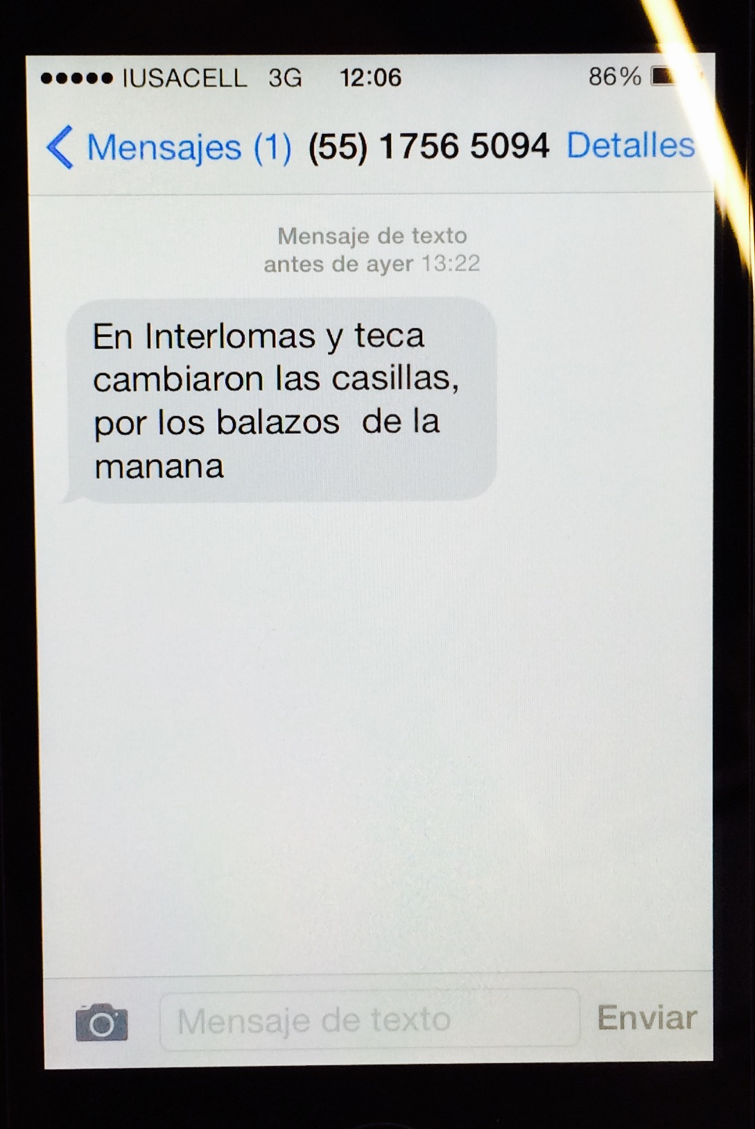 Mensaje SMS 3