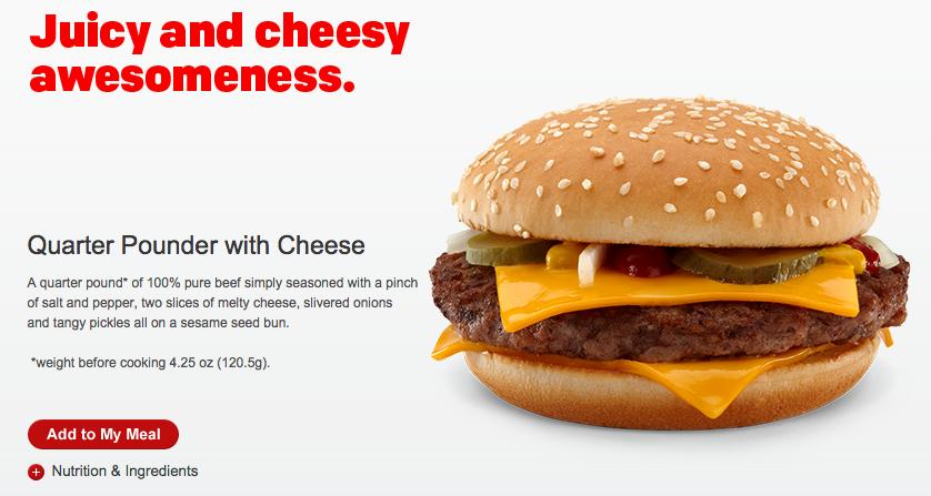 McDonald's cambia su menú
