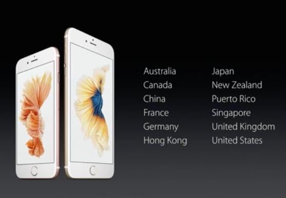 países iPhone
