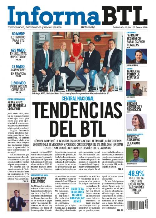 Portada InformaBTL enero 2016