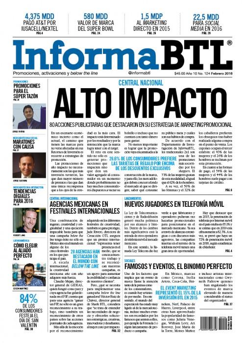 Portada InformaBTL febrero 2016