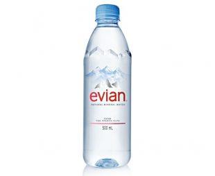 Nuevo packaging de Evian, prestige