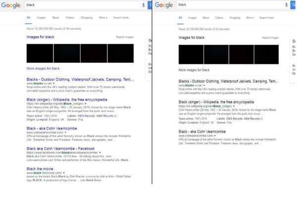 Cambio de color Google