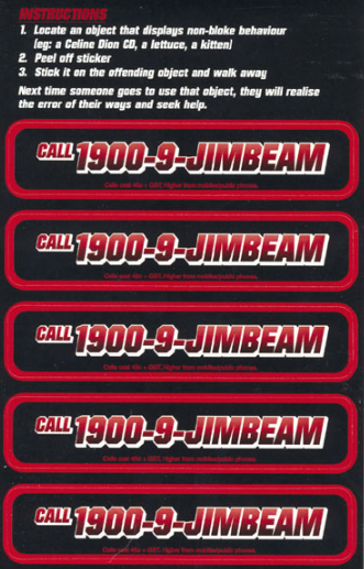 1900-9-Jim Beam Stickers