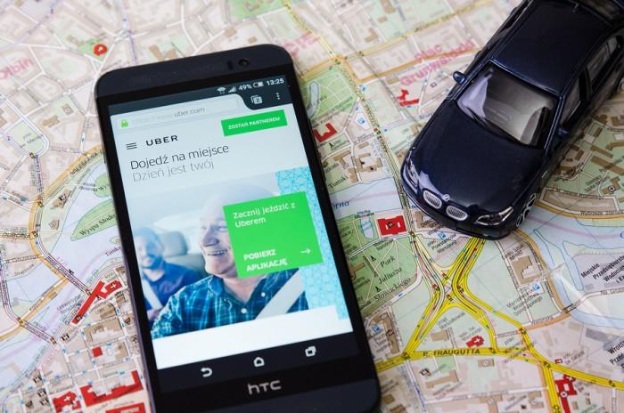 uber, aplicación, app