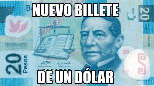 Dolar rebasa los 20 pesos