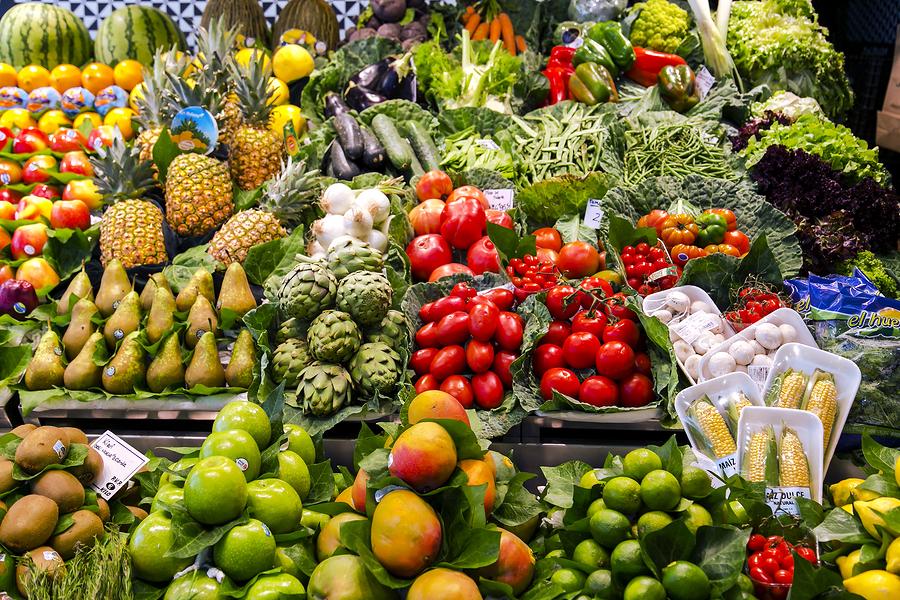mercado, productos, frutas y verduras, supermercado