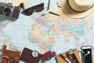 vacaciones, mapa, mundo, viajes, destino, turistas