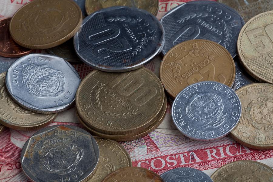 costa rica, dinero, monedas