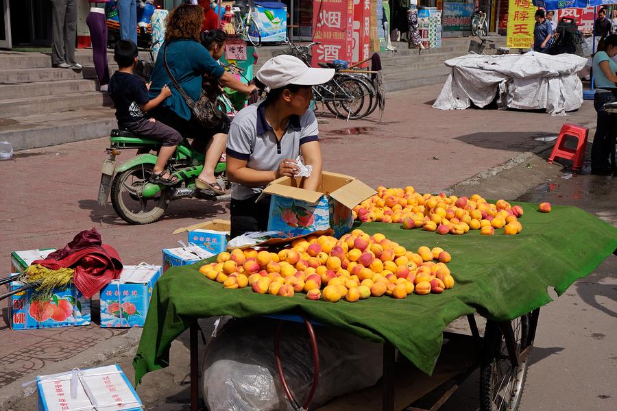 comercio informal, fruta, comerciante, calle, puesto en la calle, ambulante, informalidad