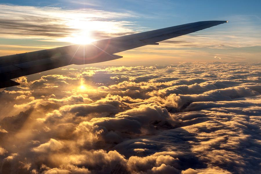 viajes, avión, vacaciones, cielo, airline