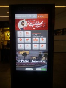 paleta interactiva, patio universidad