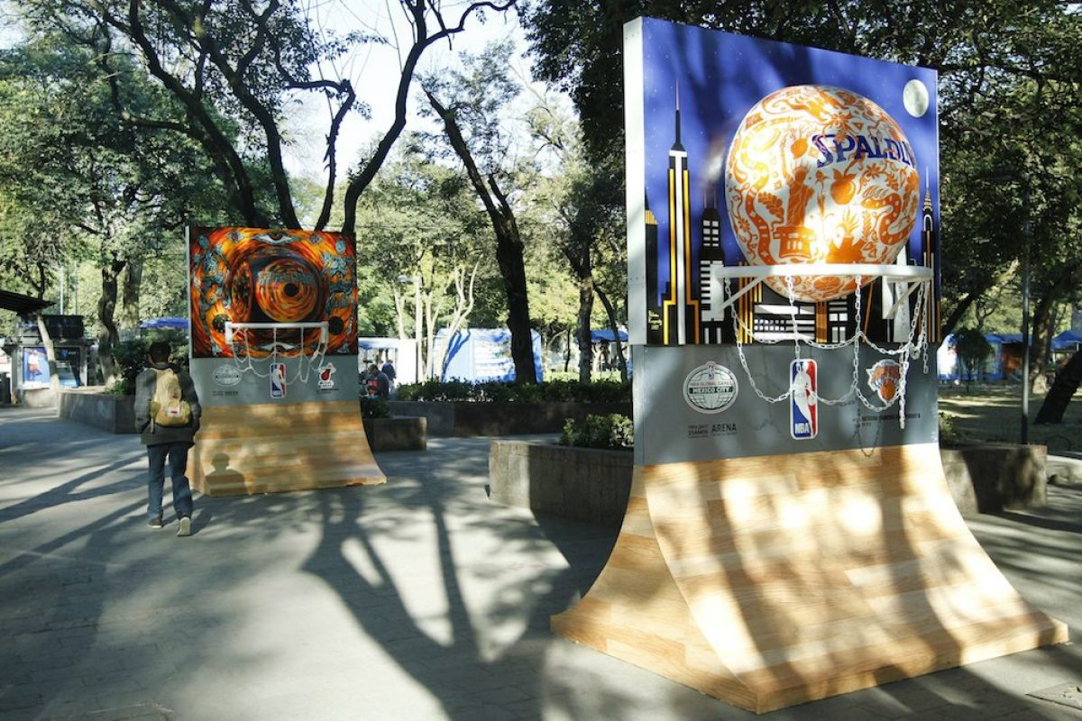 Activaciones El basquetbol de la NBA llega a Paseo de la Reforma