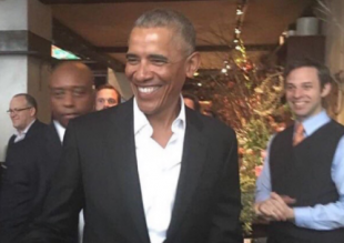 Barack Obama en Starbucks