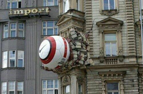guerrilla markieting en edificios